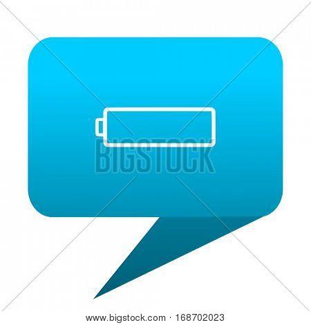 battery blue bubble icon