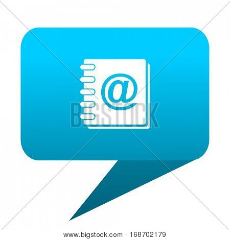 address book blue bubble icon
