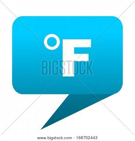 fahrenheit blue bubble icon