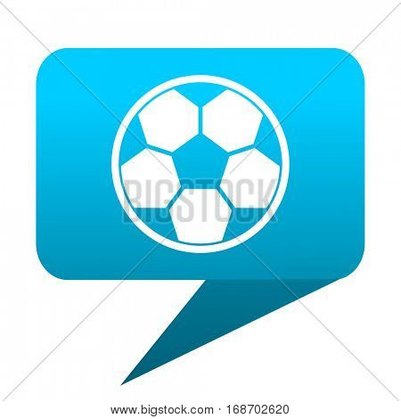 soccer blue bubble icon