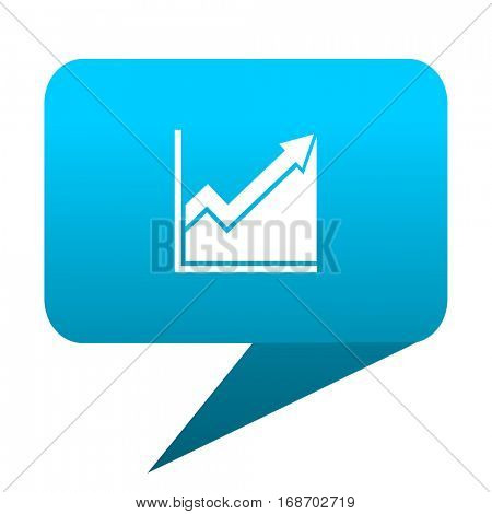 histogram blue bubble icon