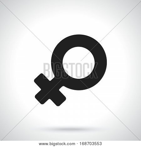 Vector illustration. Silhouette of female Venus symbol. Gender pictogram. Template or pattern. Decoration for greeting cards wallpapers emblems