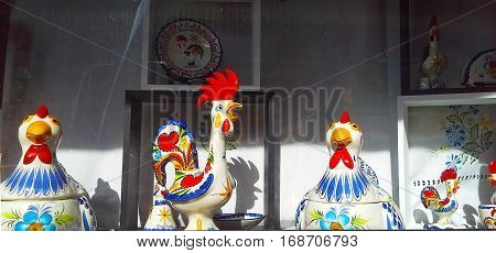 a symbol of the new year - a rooster. Shop ceramic figurines