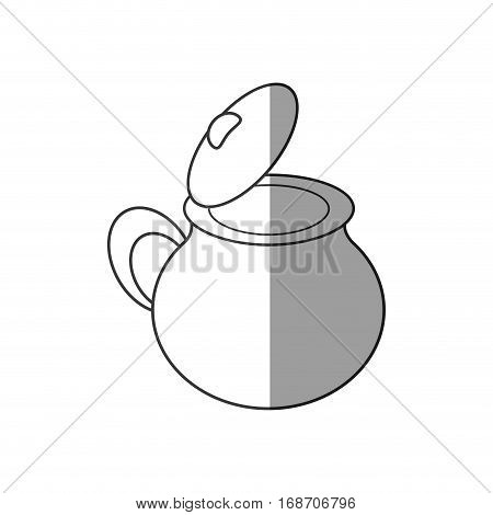pottery kitchen utensil empy shadow vector illustration eps 10