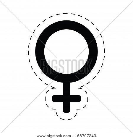 female gender sex symbol cut line vector illustration eps 10