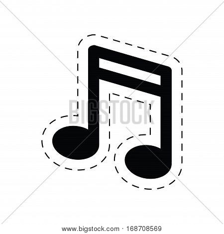 note music sound melody pictogram vector illustration eps 10