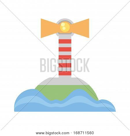 lighthouse sea navegation signal vector illustration eps 10
