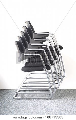 Stack of Office Chairs