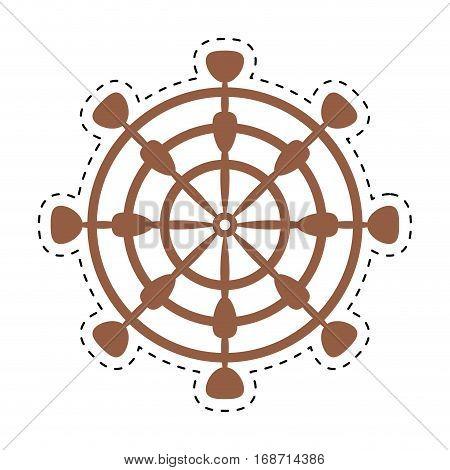 wheel steering boat helm cut line vector illustration eps 10