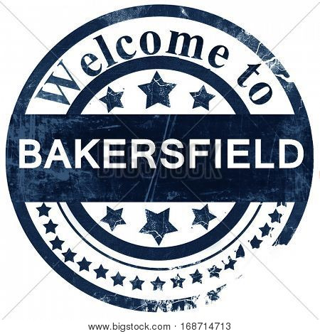 bakersfield stamp on white background