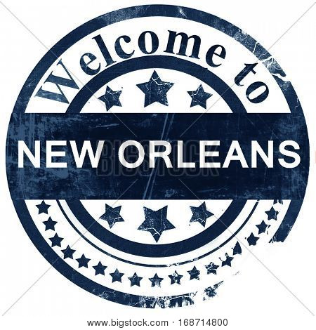 new orleans stamp on white background
