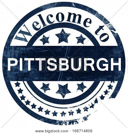 pittsburgh stamp on white background