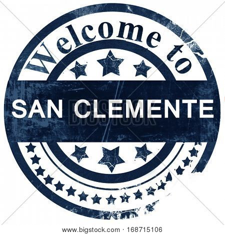 san clemente stamp on white background