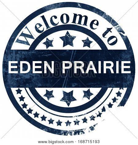 eden prairie stamp on white background