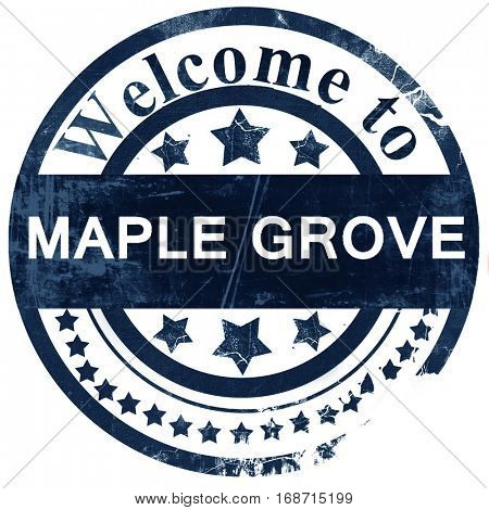 maple grove stamp on white background