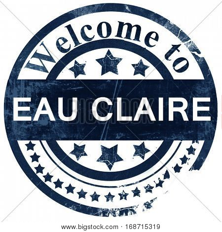 eau claire stamp on white background