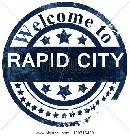rapid city stamp on white background