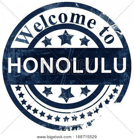 honolulu stamp on white background