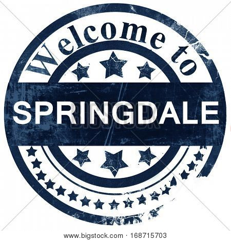 springdale stamp on white background