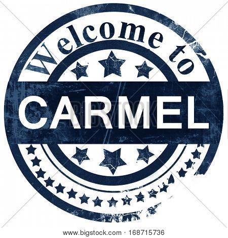 carmel stamp on white background
