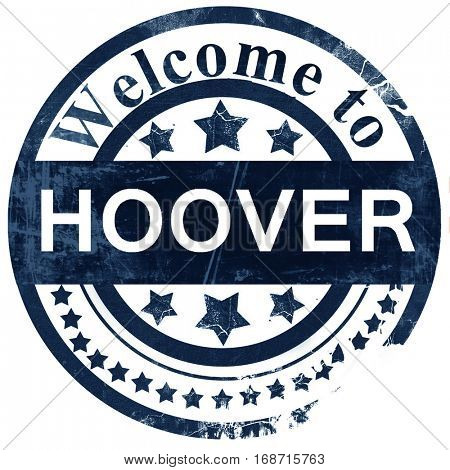 hoover stamp on white background