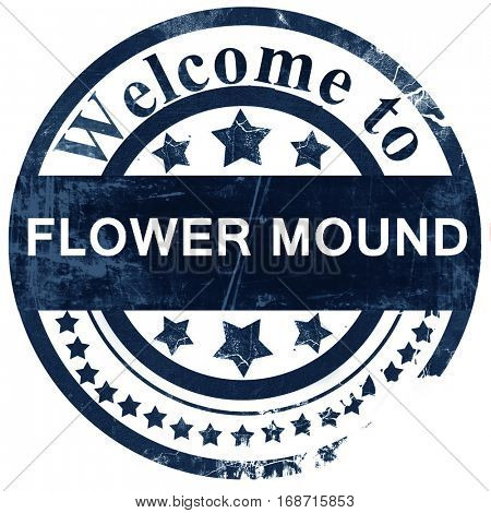 flower mound stamp on white background