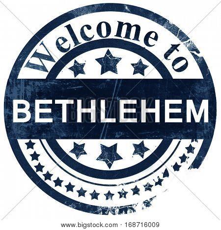 bethlehem stamp on white background