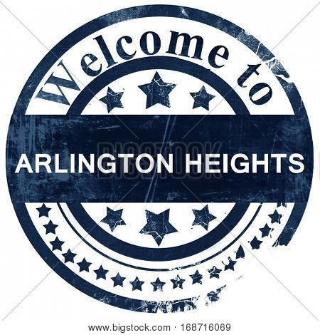 arlington heights stamp on white background