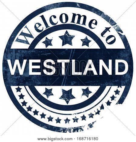 westland stamp on white background