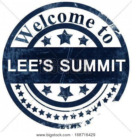 lee's summit stamp on white background