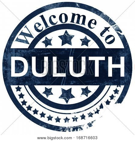 duluth stamp on white background