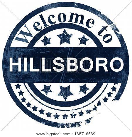 hillsboro stamp on white background