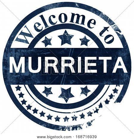 murrieta stamp on white background