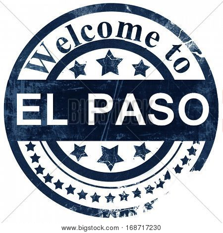 el paso stamp on white background