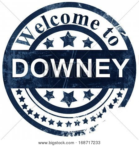 downey stamp on white background