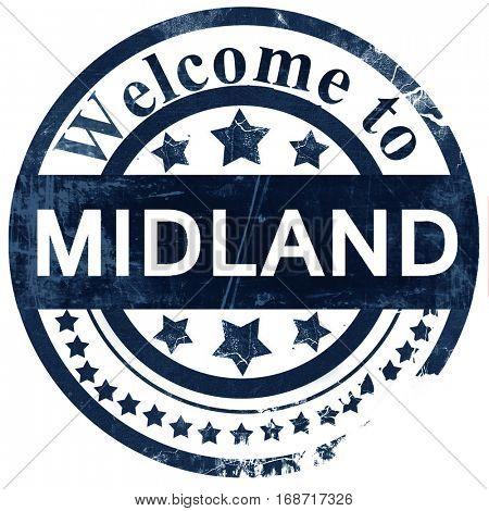 midland stamp on white background