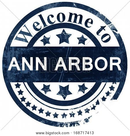 ann arbor stamp on white background