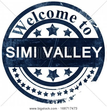 simi valley stamp on white background