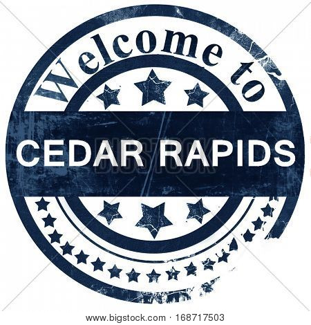cedar rapids stamp on white background