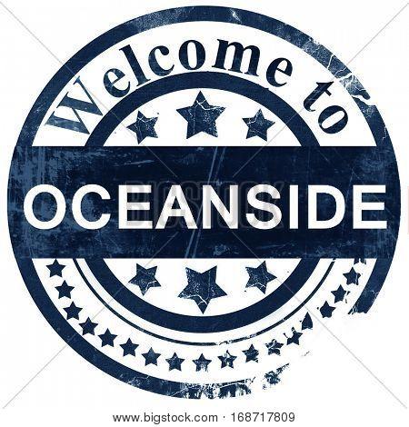 oceanside stamp on white background