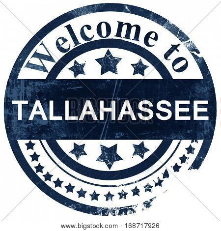 tallahassee stamp on white background