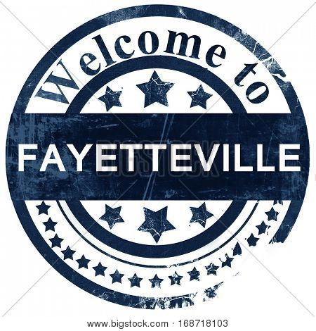 fayetteville stamp on white background