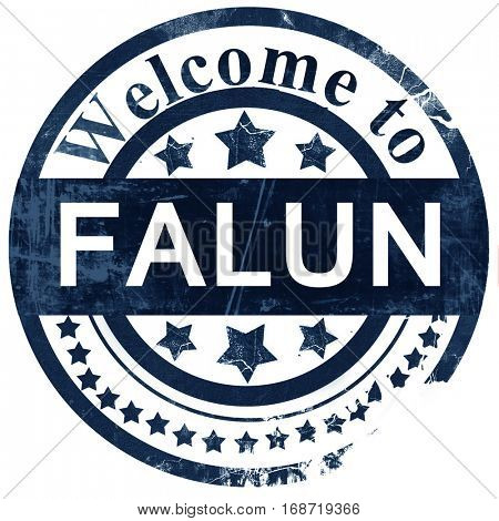 Falun stamp on white background