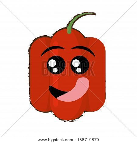 peppers expressions hungry face icon, vector illustration