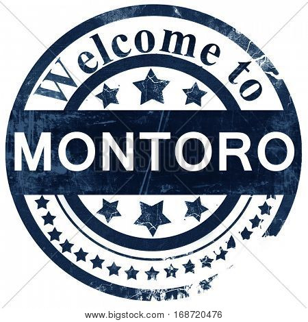 Montoro stamp on white background