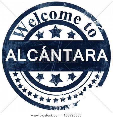 Alcantara stamp on white background