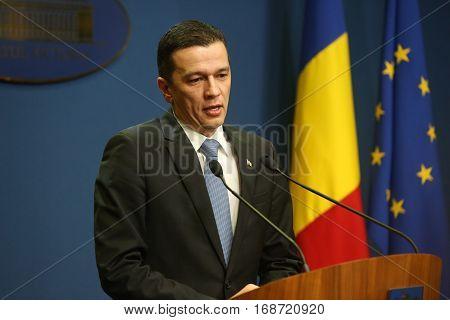Romanian Prime Minister Sorin Grindeanu