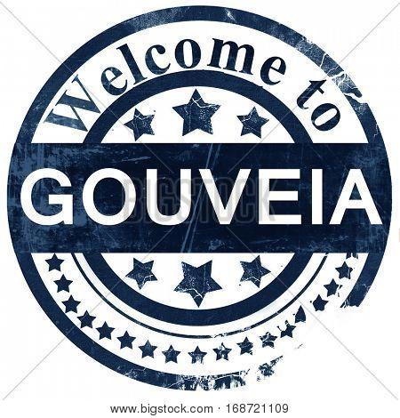 Gouveia stamp on white background