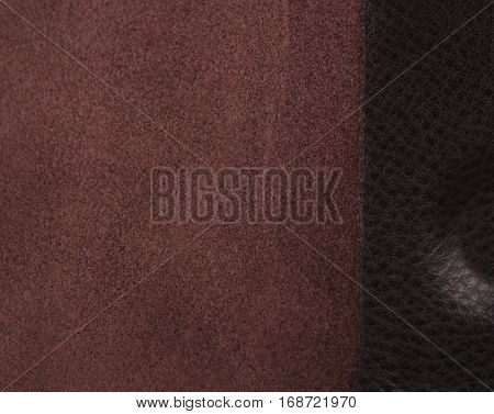 reverse side of the skin; leather texture as background