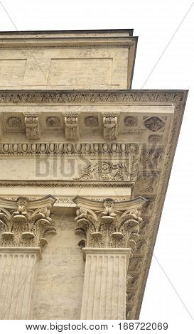 Fragment facade of the Kazan Cathedral in St.Petersburg Russia.